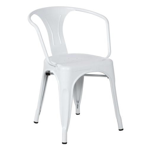 Mad Chair - Replica Tolix arm chair - White