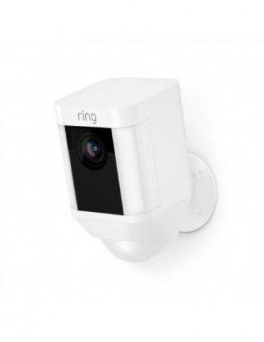Ring - Battery-Powered Spotlight Cam - White