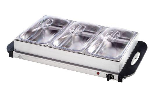 Salton - 3 Dish Buffet Server & Hot Tray