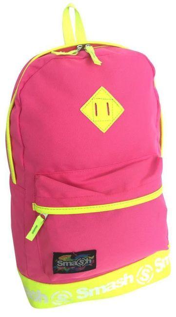 Smash - Neon PVC Trim 2 Pocket Backpack (Pink)