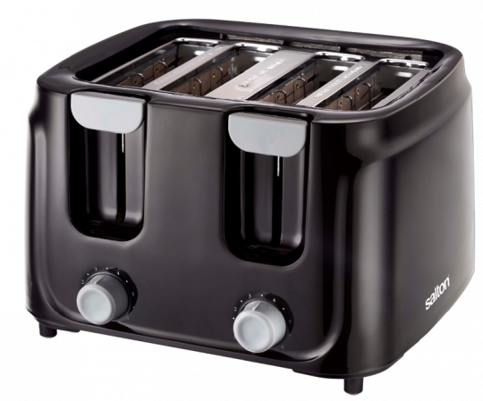 Salton - ST4S-00 Salton Cool Touch 4 Slice Toaster Black