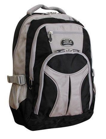 Tosca - Large Boys/Girls Backpack 1680D (Black/Grey)