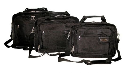 "Tosca - 13"" Classic Deluxe Laptop Briefcase (Black) (1680D)"