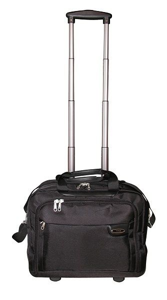 "Tosca - 15"" Classic Deluxe Laptop Trolley Briefcase (Black)"