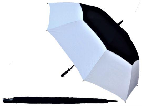 Black/White UV Gustbuster Golf Umbrella Fibre