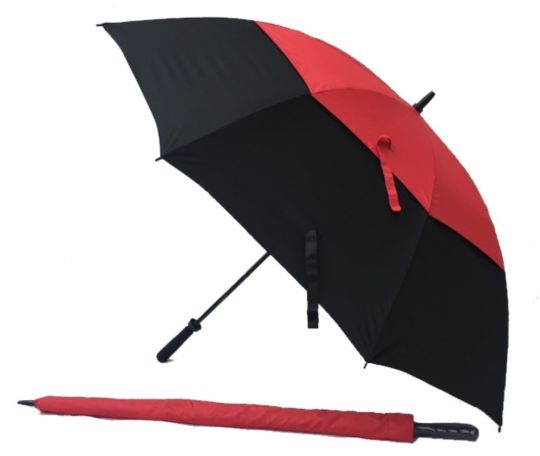 Black/Red UV Gustbuster GolfUmbrella Fibre