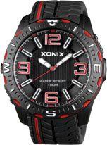 Xonix - UZ-006 Men's Analogue Black/Red