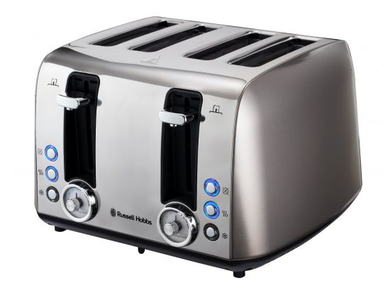 Russell Hobbs - RHTVIN4-8 Grey Vintage 4 Slice Toaster