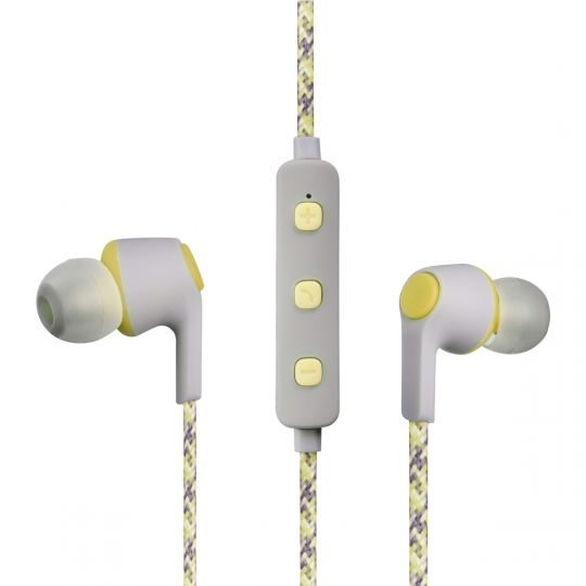 Volkano - Moda- Nylon Bluetooth Earphones with Carry case- YL