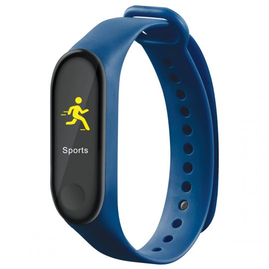 Volkano - Active Tech Core Series Fitness Bracelet with Heart Rate Monitor Blue
