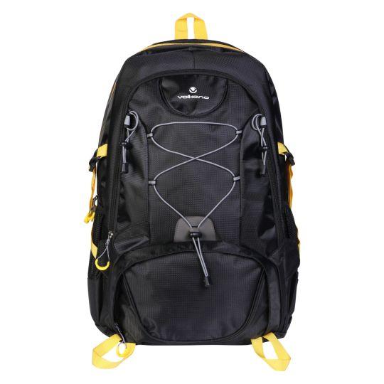 Volkano - Clarence Series Backpack - Black / Yellow