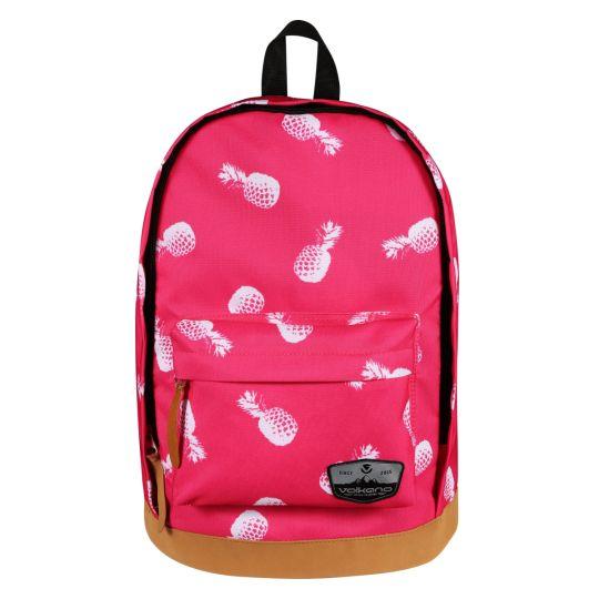 Volkano - Suede Series Backpack Pineapples (Pink)