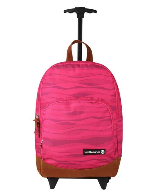 Volkano - Diva Waves Trolley Backpack - Pink