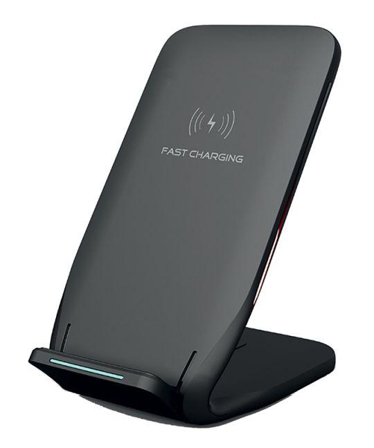 Volkano - Pylon series upright fast wireless charger - black